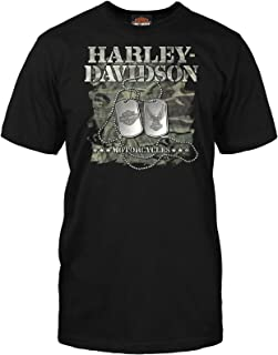 Military - Men's Short Sleeve Graphic T-Shirt - Dog Tags | Overseas Tour