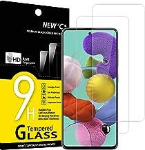 NEW'C Lot de 2, Verre Trempé Compatible avec Samsung Galaxy A51, Film Protection écran Ultra Résistant (0,33mm HD Ultra Transparent) Dureté 9H Glass