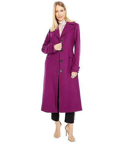 Kate Spade New York Belted Wool Maxi Coat (Bright Plum) Women