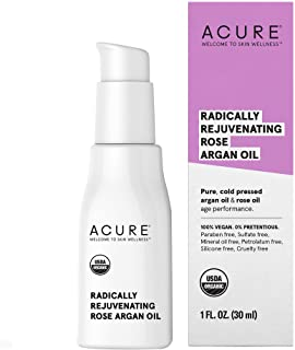 ACURE Radically Rejuvenating Rose Argan Oil | 100% Vegan | Provides Anti-Aging Support | Pure, Cold Pressed & Rich in Vita...