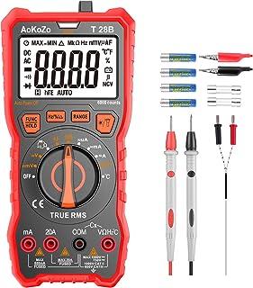 comprar comparacion Multimetre Digital Profesional,AoKoZo T28B Automático Polimetro Digital 6000 Cuentas,TRUE RMS