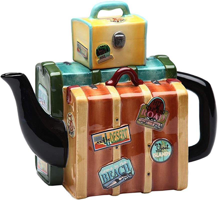 Appletree Design Road Trip Luggage Teapot 5 1 2 Inch