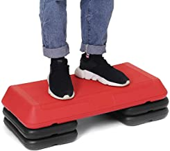 Aerobic Fitness Stepper Oefening Workout Step Board, in Hoogte Verstelbaar (10/15/21 Cm) Step Platform, Home Cardio Workou...