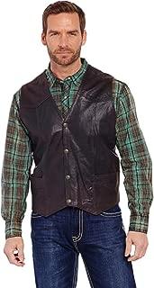Cripple Creek Men's Antique Chocolate Leather Vest - Ml3061a-Cho