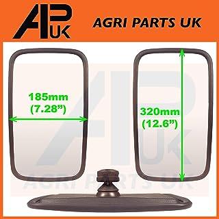 APUK 2X Blind spot Attachment Oval Mirror Head fits JCB Hitachi Takeuchi Kubota Mini Digger