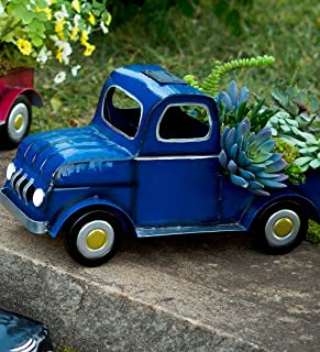 Solar Truck Planter, Blue