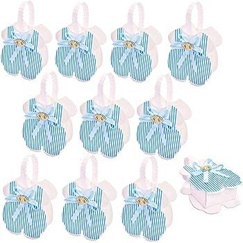 JZK 50 x Bleu Plaine Bo/îte de Mariage Favor Boite en Bois Petite bo/îte Cadeau pour lanniversaire de Mariage Douche de b/éb/é bapt/ême No/ël f/ête Bo/îte de faveurs
