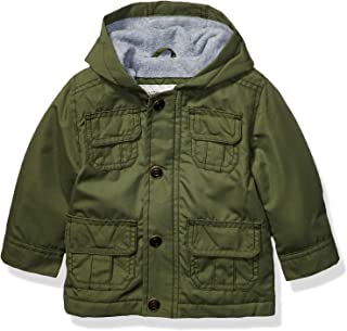 Baby Boys Midweight Snap & Zip Fleece Lined Jacket