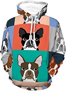 Hoodies Stretchy Pull Over Terrier Cartoon