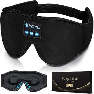 Sleep Headphones,3D Sleep Mask Bluetooth 5.0 Wireless Music Eye Mask, LC-dolida Sleeping Headphones for Side Sleepers with...