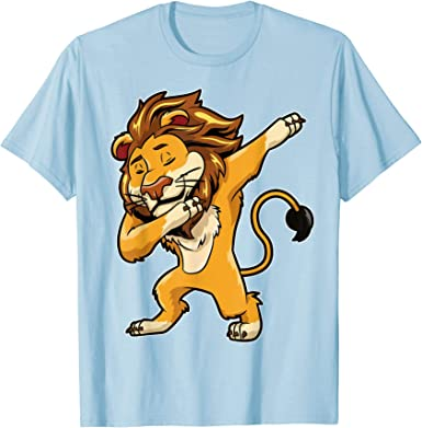 Dabbing Tiger Boys Print Graphic Tee Short Sleeve T-Shirt