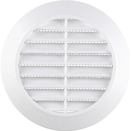 Grise First Plast VLA175B Grille de Ventilation PVC-Bouche dextraction vmc /ø100 /à 125mm