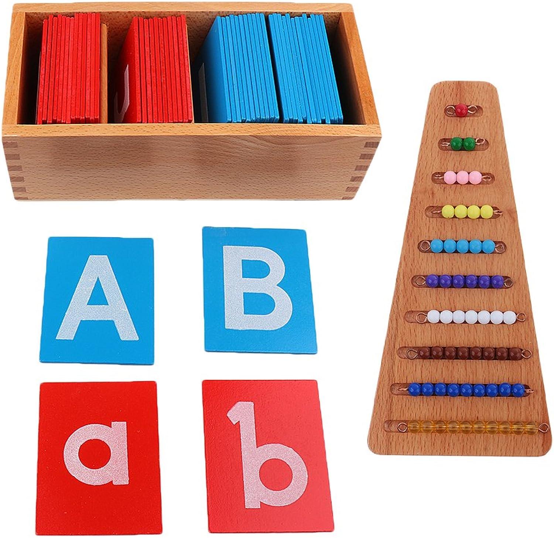 Sharplace Montessori Bunte Buchstaben Karten und Perlen-Treppen Set Spielzeug für Kinder Erziehung B0777LJNZB Angemessene Lieferung und pünktliche Lieferung     | Neuer Stil