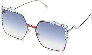 Fendi Women's Square Sunglasses, Rust/Light Blue, One Size