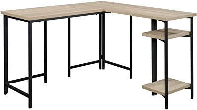 "Sauder North Avenue L-Shaped Desk, L: 47.01"" x W: 47.44"" x H: 28.5"", Charter Oak"