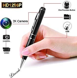 Spy Camera LTMADE 1296P 32G Hidden Camera Pen OV4689 Full Real 2K Low Illumination 1080P Pen Camera Multfunction Pen DVR Cam