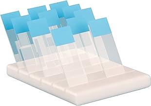 Heathrow Scientific HD15981C Polyethylene Microscope Slide Holder, 15 Slide, 153mm Length x 102mm Width x 21mm Height