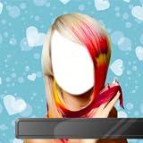 Montaje de la foto del peinado del color