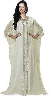 فستان حفلات طويل للنساء من كيه او سي، قفطان الفراشة، قفطان دبي - مقاس حر