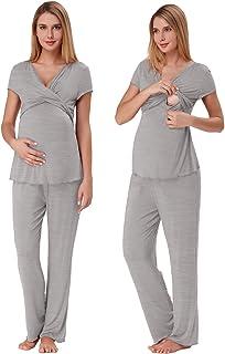 Zexxxy Women Ultra Soft Maternity & Nursing Pajama Set...