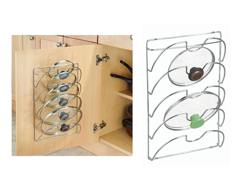 フォーラムスリップシューズ直面するInterDesign 鍋のふた スタンド 壁掛け キッチン 収納 Classico クローム 48580EJ
