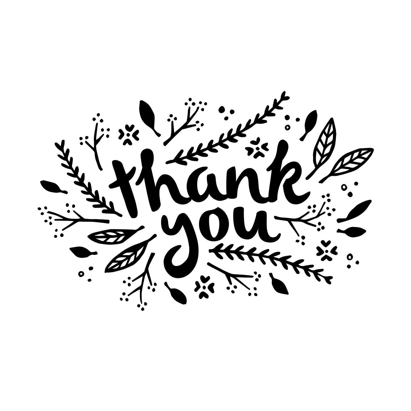 Darice 30041331 Embossing Folder: Thank You with Leaves