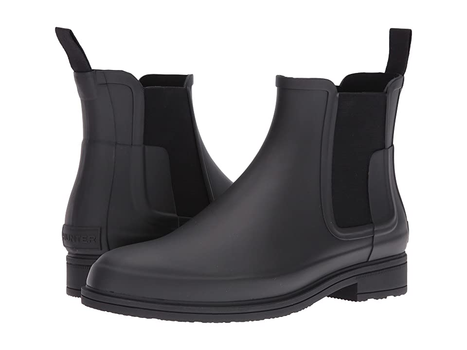 Hunter Original Refined Dark Sole Chelsea Boots (Black) Men
