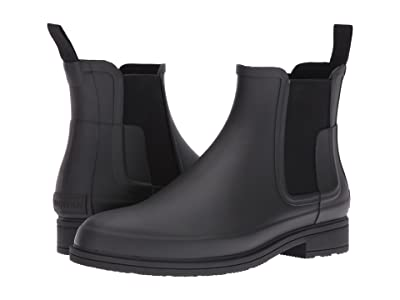 Hunter Original Refined Dark Sole Chelsea Boots (Black) Men