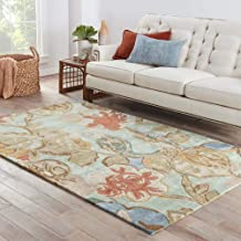 Jaipur Rugs Transitional Blue 5X8 Feet Wool and Viscose Floral Rug and Carpet