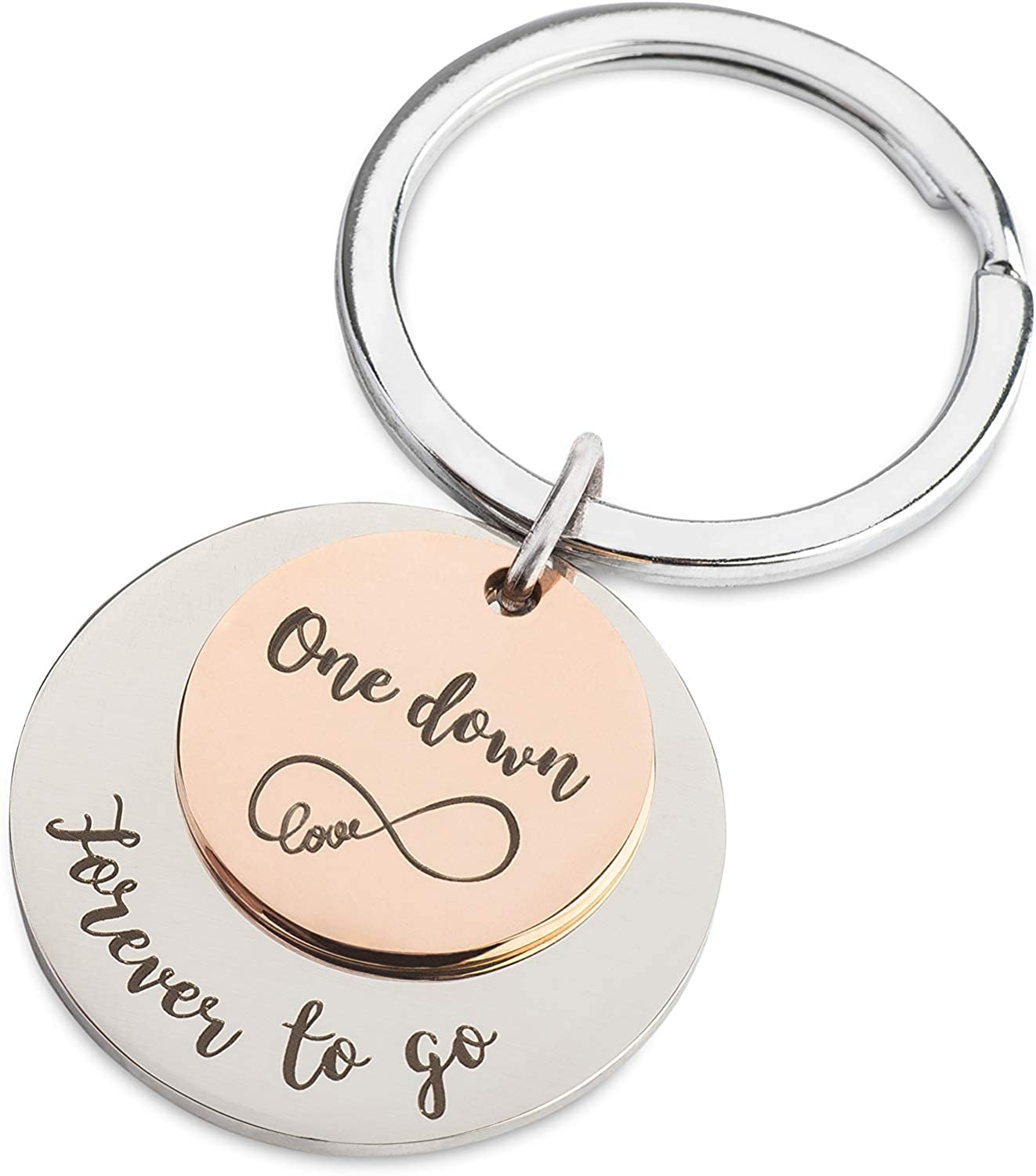 One Year Anniversary Keychain I Gifts for Girlfriend, Boyfriend, Him, Her I Gift Box Included