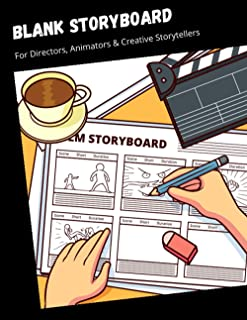 """Blank StoryBoard For Directors, Animators & Creative Storytellers: 16:9, 8.5""""x11"""" US Letter, 100 pages.: 16:9, 8.5""""x11"""" US..."""