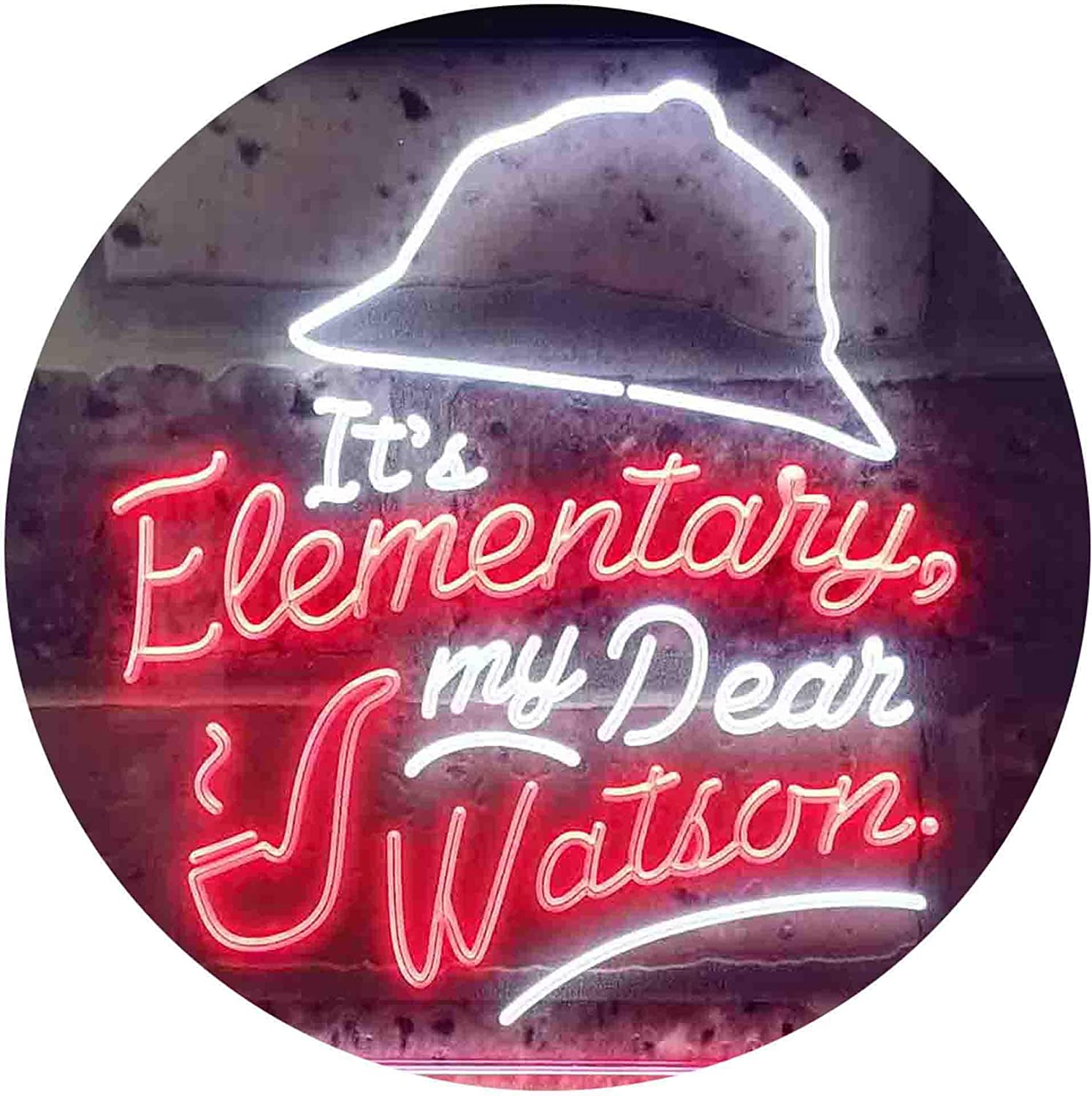 ADVPRO It's Elementary My Dear Watson Dual Humor Room Max 49% Luxury OFF Color LED
