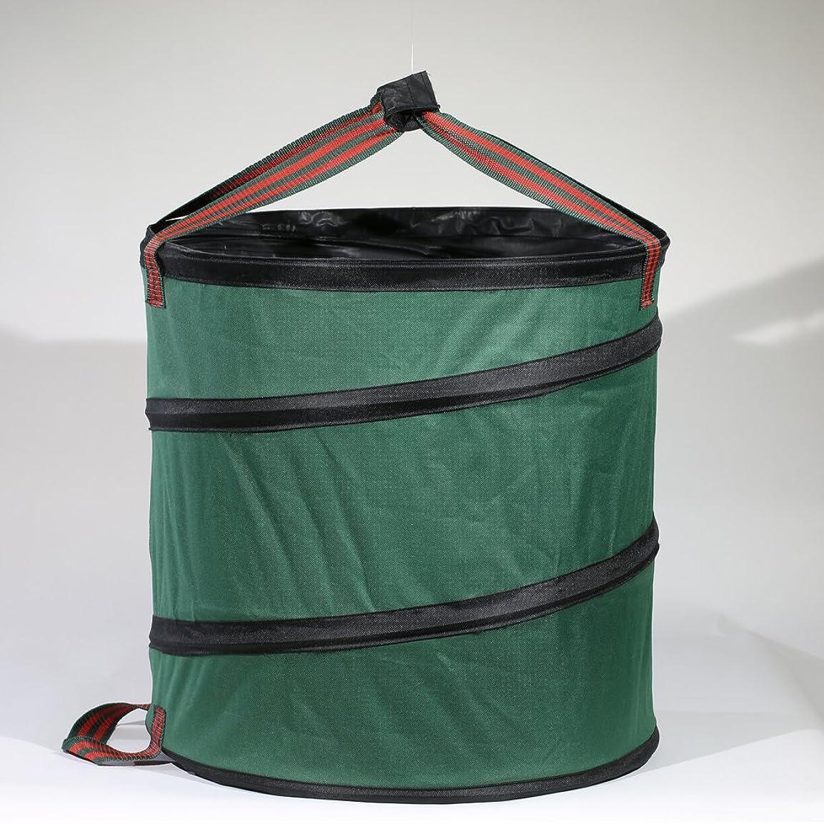 敬の念力自信があるSUSUQI ガーデンバッグ ガーデン用収草袋 ガーデンバケツ ガーデンバッグ 折り畳み 自立式 丸大 枯れ葉 落ち葉 雑草 エクステリア バッグ 便利 アイテム size 18.5 x 20 inch (Green)
