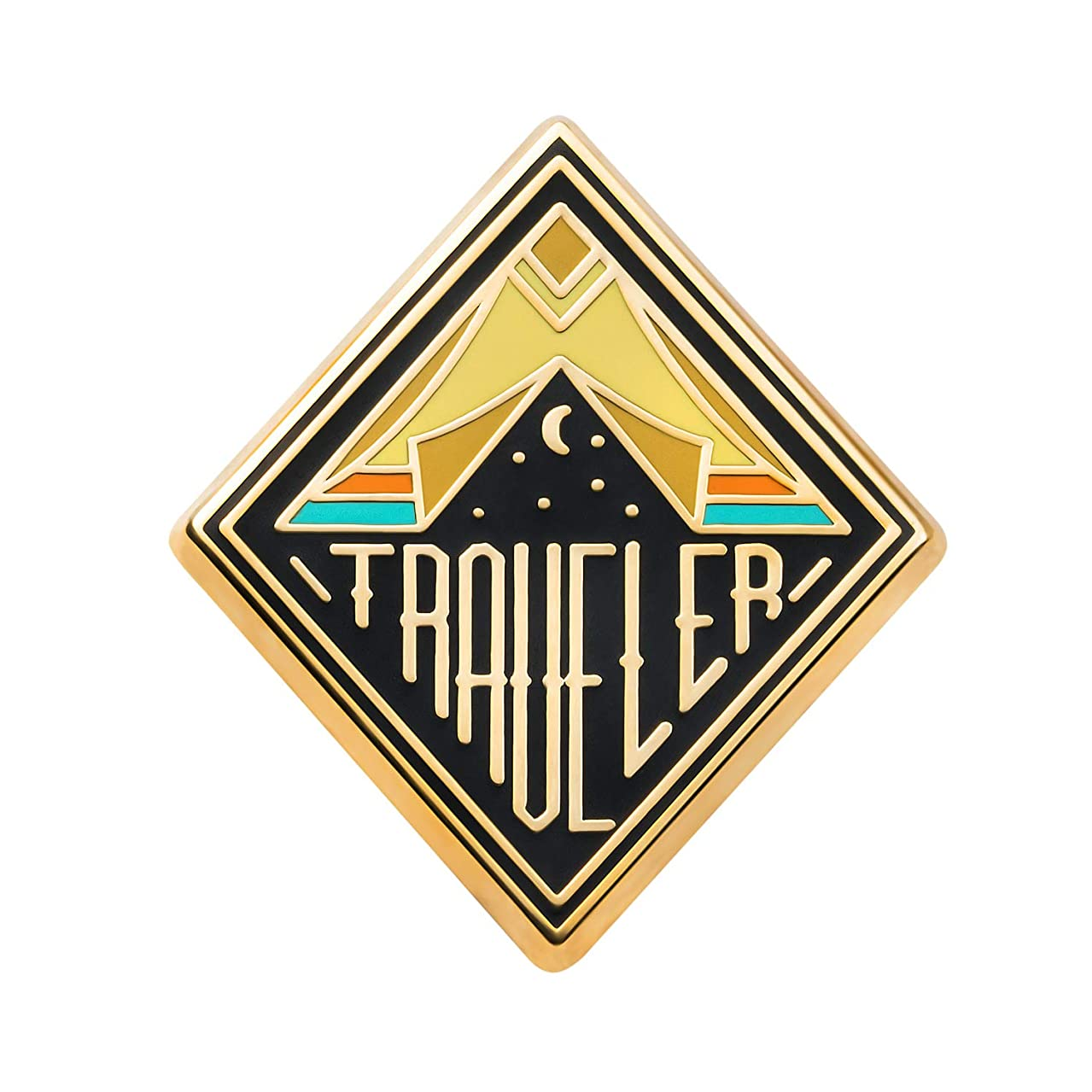 Asilda Store Lapel Enamel Pin [with Deluxe Pin Lock] (Traveler)