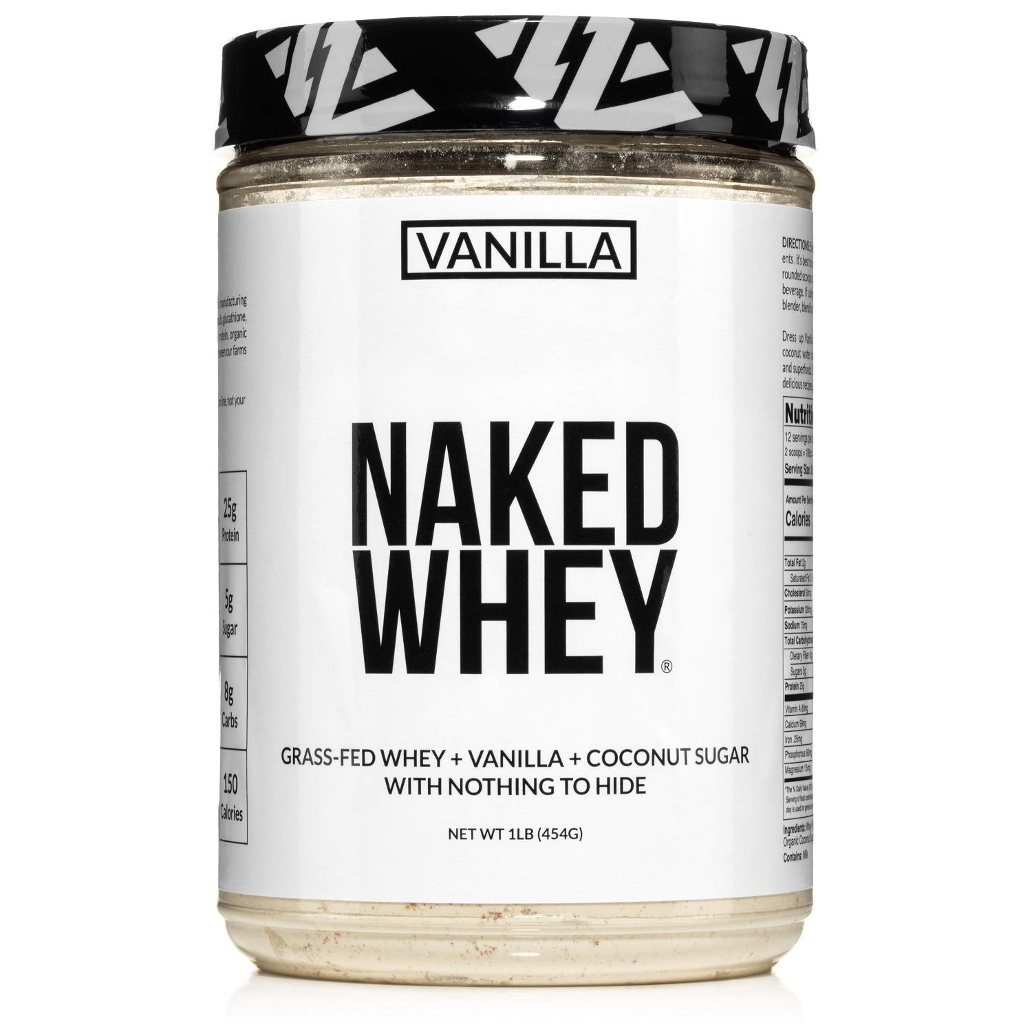 Naked New Shipping Free Vanilla Whey Protein 1LB Fed Natural Grass – All sold out