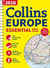 2018 Collins Europe Essential Road Atlas