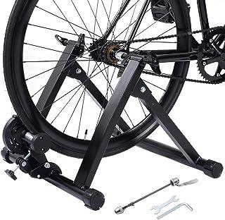 comprar comparacion COSTWAY Bicicleta Estática Soporte Rodillo de Ciclismo Entrenamiento Plegable Carga Máxima hasta 150 kg Color Negro