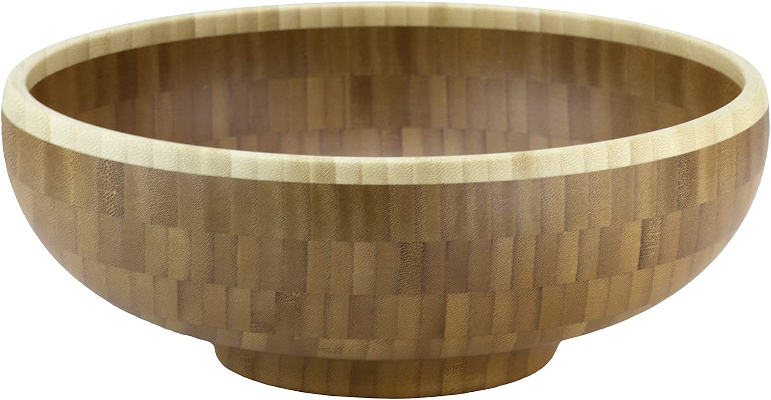 Totally Bamboo Classic Bamboo Serving Bowl, 10  x 10  x 3-1 2
