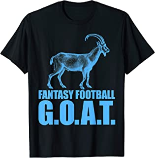 Funny Fantasy Football GOAT Draft Day League Champion T-Shirt