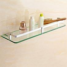 LYQQQQ Plank badkamer glasplank enkele laag badkamer muur opknoping hardware hanger (grootte: 35cm)