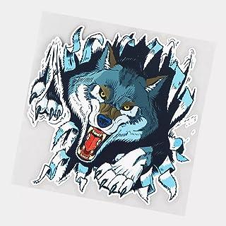 UYEDSR Pegatinas para coche, 2 unidades, diseño de lobo feroz personalidad, coche, decoración del coche, pegatina de parac...