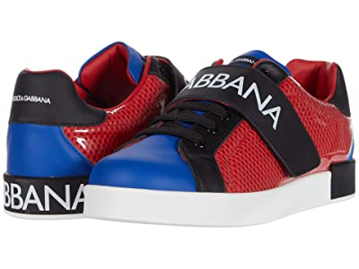 Dolce & Gabbana Kids Snk Bassa Allacciata Rete+Pvc+ (Big Kid) (Rosso/Blu) Kid