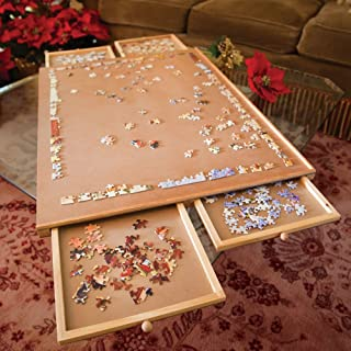Bits and Pieces – The Original Jumbo Size Wooden Puzzle Plateau-Smooth Fiberboard..