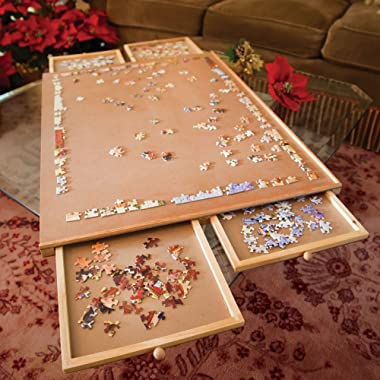 Bits and Pieces –Original Standard Wooden Jigsaw Puzzle Plateau-The Complete Puzzle Storage System