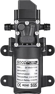 Diaphragm Pump,VerRich 12V Water Pump 70W 6A Intelligent Self Priming Sprayer Pump 6 L/Min 0.9MPA 131 PSI for RV Camper Ma...