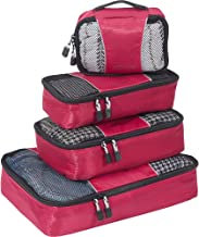 eBags Classic Small/Medium Packing Cubes for Travel - Organizers - 4pc Set - (Raspberry)