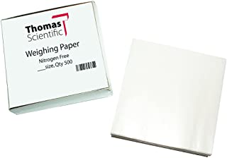 "Thomas W44 Square Weighing Paper, Nitrogen Free, 4"" Length x 4"" Width (Pack of 500)"