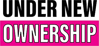 Pre-Printed - Under New Ownership Banner - Stripe - Pink (6` x 3`)