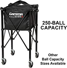 Gamma Sports EZ Travel Cart Pro, Portable & Compact Design, Sturdy & Lightweight Construction, 150 or 250 Capacity Availab...