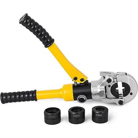 Guellin THU16-32mm/16-32mm Alicate de Tubos Alicates Prensadores de Tuberías con 360°Cabeza Giratoria Alicates para Pinzas (16-32mm)